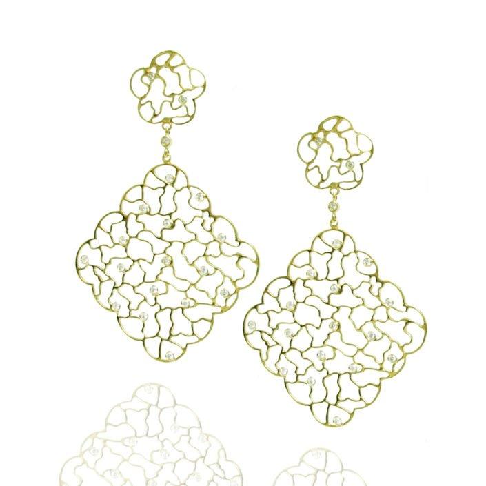grants jewelry oklahoma dangle 18kyg earrings with diamonds
