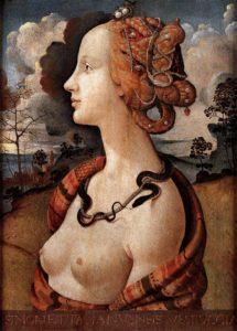 Portrait of Simonetta Vespucci by Piero di Cosimo (c.1480)