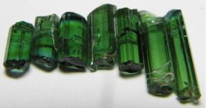 Green Tourmaline Crystals