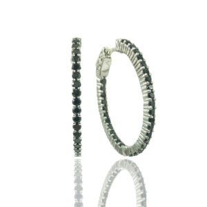 Black Diamond Hoops