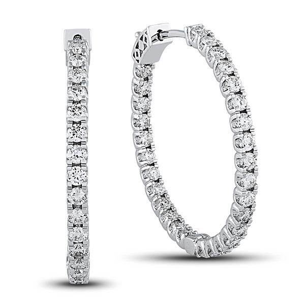 Diamond Hoop Earrings, Diamond Jewelry, Holiday 2017, Grants Jewelry, Gift Guide, Christmas Gift, Hanukah Gift, Diamond District
