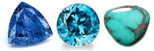 Tanzanite, Blue Zircon & Turquoise