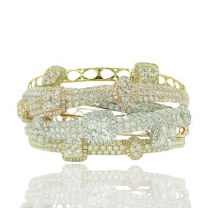 Stacked Diamonds and Gold Sparkle in this bracelet.