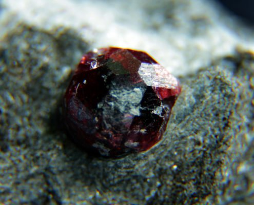 Rough Garnet, Bella Vista Mines, Alaska