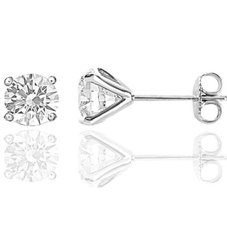 4 CT TW Diamond Studs