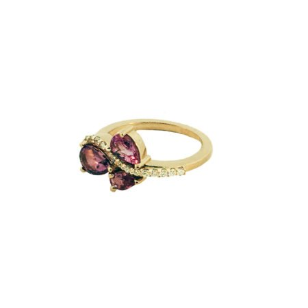 18K rose gold and pink sapphire ring