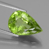 Pear Facet Lively Green Peridot
