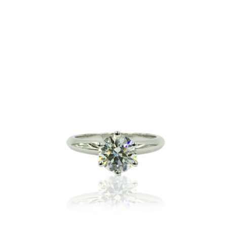 18K WG Diamond Solitaire Engagement Ring