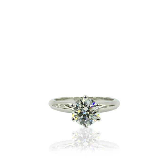 18K WG Diamond Solitaire Engagement Ring