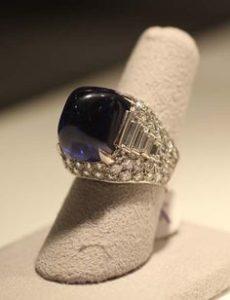 Elizabeth Taylor's Unique Domed Sapphire