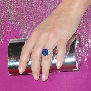 Square Cut Sapphire of Supermodel Elizabeth Hurley
