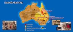 Australian Opal Map