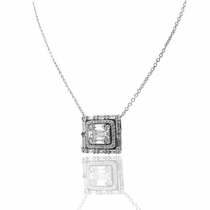 diamond, pendant, baguette, nyc diamond district, holiday 2017