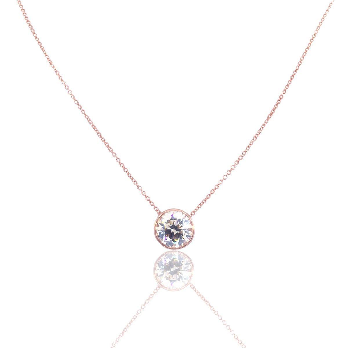47da1017e Rose Gold, Bezel Set, Diamond Pendant, NY Diamond District, Best Diamond  Value