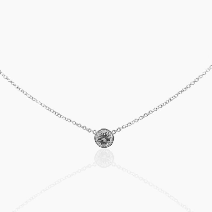 Diamond Pendant, Bezel Set, Diamond Essentials, Holiday Gifts, NYC Diamond District, Natural Round Brilliant Diamond, Diamond Values, 20 Days of Diamonds