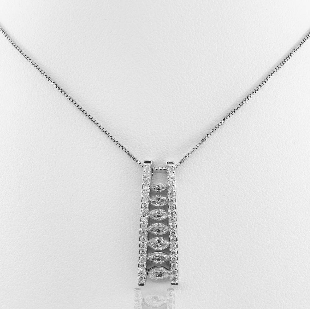 14 kwg diamond ladder pendant, fine jewelry, ny diamond district, 20 days of diamonds, holiday 2017