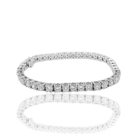 diamond tennis bracelet, in-line bracelet, diamond essentials, 20 days of diamonds, holiday gift, nyc diamond district