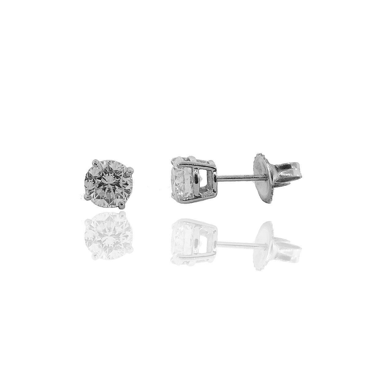 14K White Gold Diamond Stud Earrings, 20 Days of Diamonds, Diamond Essentials, Holiday Gifts, Holiday 2017, NYC Diamond District