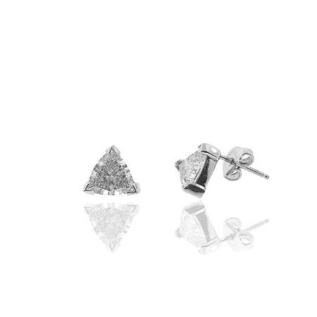 20 Days of Diamonds, Diamond Stud Earrings, 14K White Gold, Diamond Stud Earrings, Three Prong, Friction Backing, Basket Setting