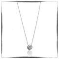 Diamond Pendant, Bezel Set, 20 Days of Diamonds, 14K White Gold, NYC Diamond District, Holiday 2017