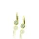 14 K Yellow Gold, Diamonds, 20 Days of Diamonds, 2017 Holiday, Diamond Solitaire Earrings, Lever Back
