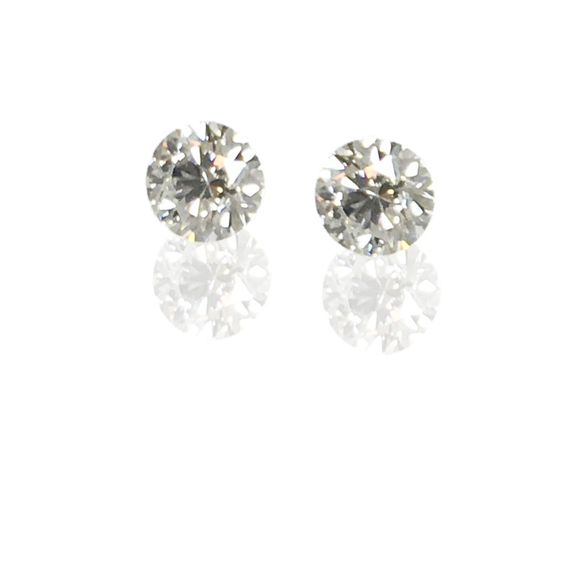 2.4CT TW 14k White Gold Diamond Studs  90dd02aa5