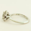 platinum, heart shaped diamond, gia certified, natural round brilliant diamonds, custom engagement rings, knife edge shank, halo design