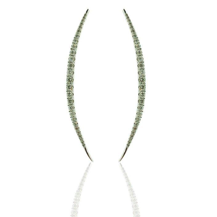 fine jewelry, diamonds, crescent shape, dangle