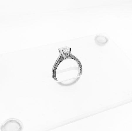 Diamond, Platinum, Engagement Ring, Custom Ring,