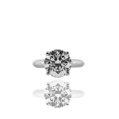 Diamond, Platinum, Solitaire, Custom Engagement Ring, 4 Prong, Knife Edge