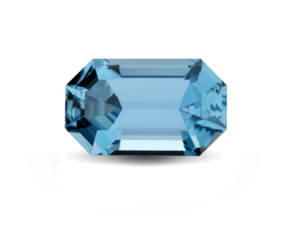 Polished Aquamarine Gem